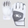 Youth- Komodo Lizard Skin Batting Gloves - White