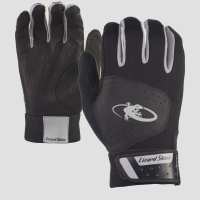 Adult - Komodo Lizard Skin Batting Gloves - Black