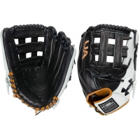 12.75 Inch Under Armour Genuine Pro 2.0 Black/White/Caramel Adult Outfield Glove